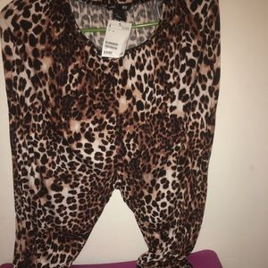 Leopard or cheetah print pants